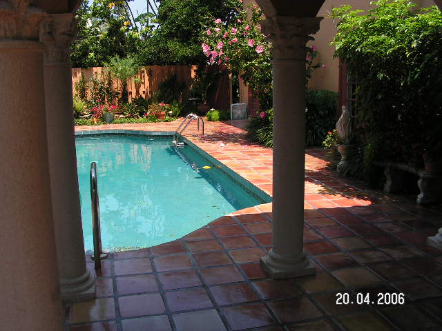 Mexican tile cleaning sanding and sealing of bird key fl for Pool area flooring