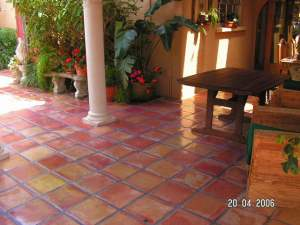 Mexican tile cleaning sanding and sealing of bird key fl mansion the mexican tile floor in the pool area of the bird key fl mansion had deteriorated from the sun rain plants and abuse the only way to make it new again ppazfo
