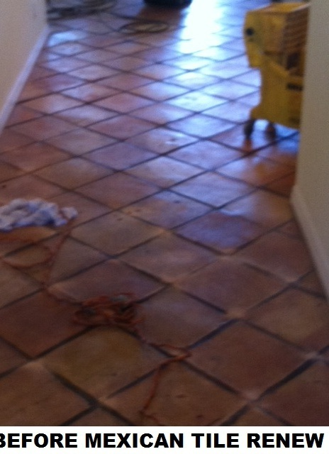 Mexican Tile Renew Of 20 Year Old Floor In Condo At