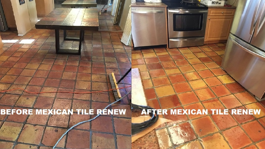 Dont Tear Out Your Old Mexican Tile Floor Rejuvenate With Mexican