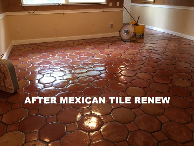 how to clean mexican tile
