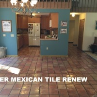 Mexican Tile Floor Care: Do Not use Vinegar to Clean Your Mexican Tile Floor it Will Ruin the Finish.