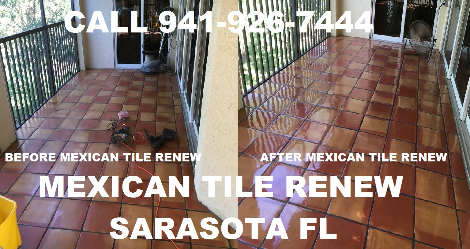 Bbb business review mexican tile renew is bbb accredited mexican tile renew outdoor project in fort myers fl where black grout had stained the saltillo tiles dailygadgetfo Image collections