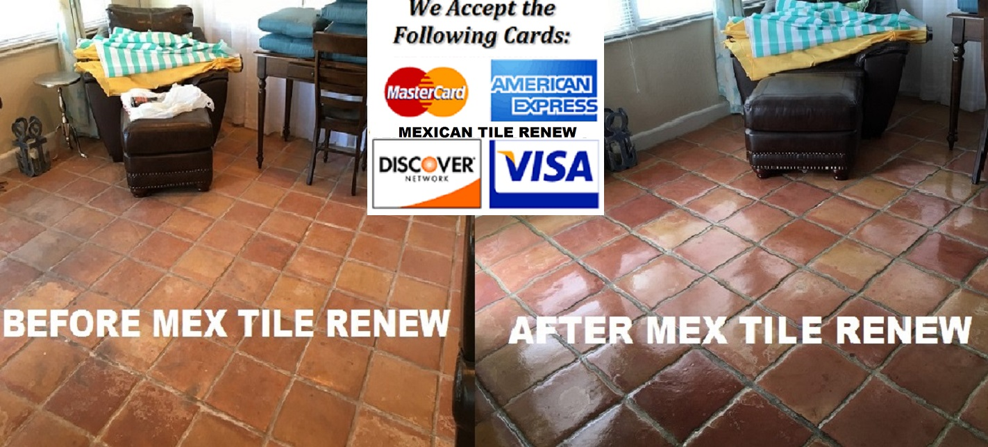 Best prices on mexican saltillo tile cleaning in florida tile mexican tile renew projects from sarasota to longboat key to bird key to st pete to bradenton to venice to englewood to nokomis to fort myers fl restoring dailygadgetfo Images
