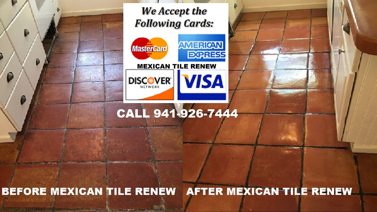 Clean and seal your mexican tile floor to like new appearance with mexican tile renew project in sarasota fl where prior home owner used vinegar to clean the mexican tile floor big mistake never use vinegar to clean a doublecrazyfo Gallery