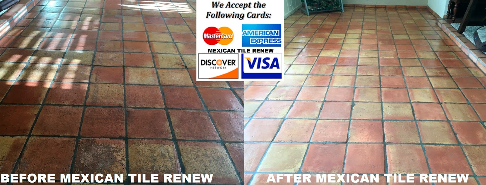 Mexican Tile Renew Project In Palmetto Fl Where Vinegar Was Used To