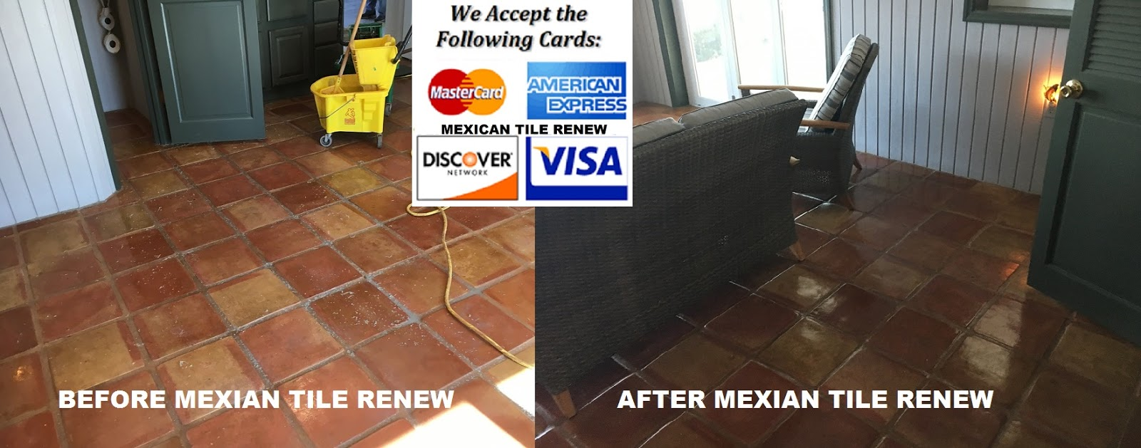 Mexican tile cleaning sealing mexican tile renew fort myers saltillo tile cleaned sealed never steam clean mexican tile floors or use vinegar acetic acid it will ruin the finish we do not use solvent based dailygadgetfo Image collections