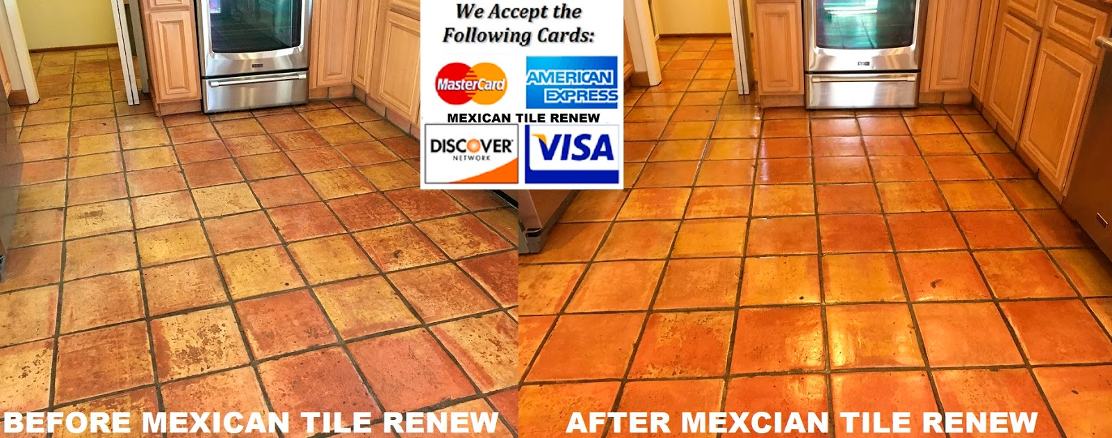 MEXICAN TILE RENEW PROJECT IN PALMETTO FL WHERE VINEGAR WAS USED TO ...