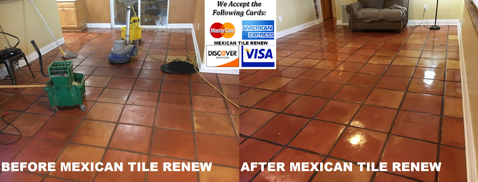 MEXICAN TILE RENEW: Clean Mexican-Saltillo Tile |Seal